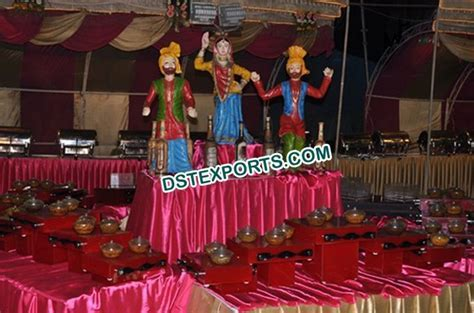 #Wedding #Small #Bhangra #Statue #Food #Stall #Decoration