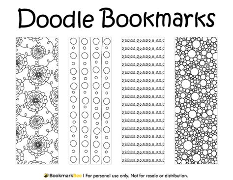 doodle for template printable doodle bookmarks