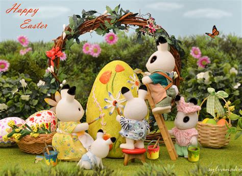 5 Adorable Families Celebrating Easter by Sylvanian Families Happy Easter The Whole Blackberry