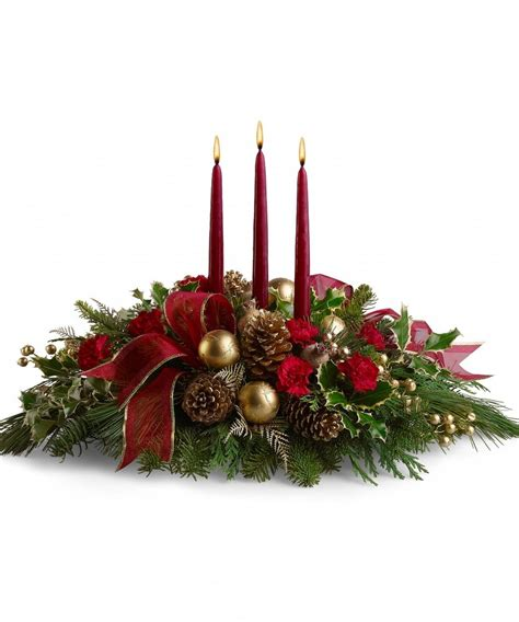 New christmas floral table decorations on decorations with 1000 ideas