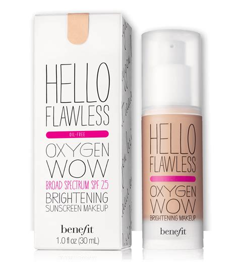 Foundation Hello Flawless Hello Flawless Oxygen Wow Liquid Foundation Benefit