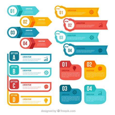 infographic elements vectors   psd files