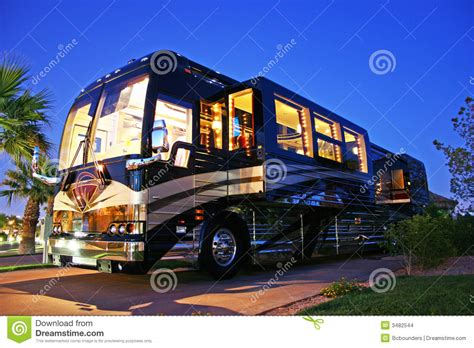 3d Home Design Inside Luxury Bus Stock Images Image 3482544