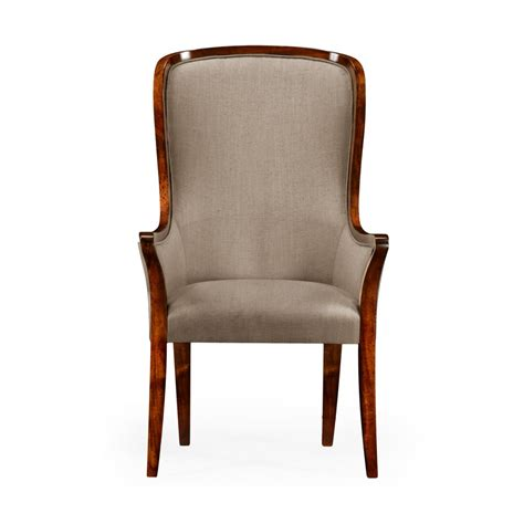 High Back Dining Chairs Upholstered High Back Upholstered Dining Armchair Swanky Interiors