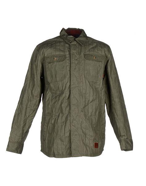 Jaket Vans Jaket Motif Logo Navy vans jacket in green for green lyst