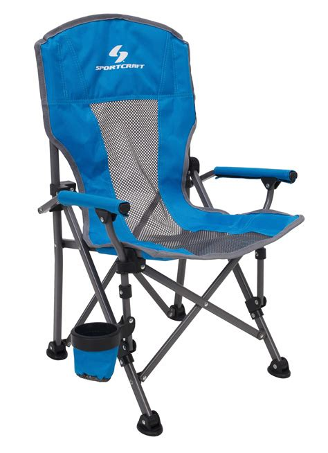 One Arm Chaise Sportcraft Kid S Super Comfort Camping Arm Chair Blue