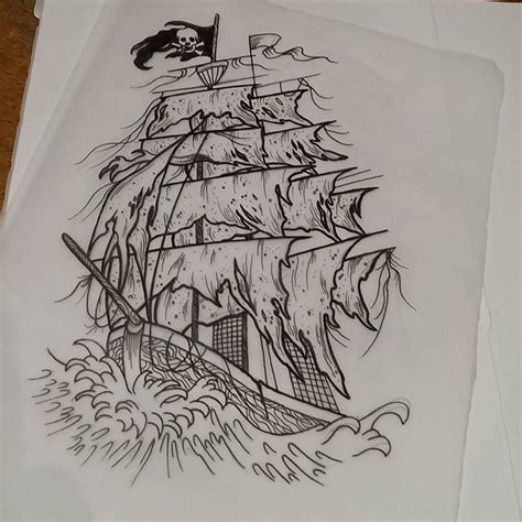 pirate pin up tattoo designs fantastic pirate ship design tattoos