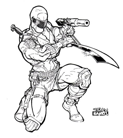 snake eyes coloring pages snake eyes 01 by sergioxantos on deviantart