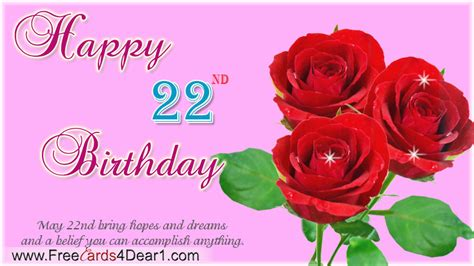 22 Happy Birthday Wishes 22nd Birthday Quotes Quotesgram