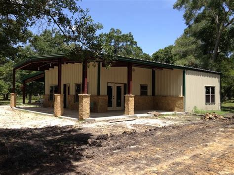 metal house plans texas kainos steel barndominium with two porches and 24 lean to