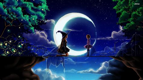 wallpaper anime magic witch full hd wallpaper and background image 1920x1080