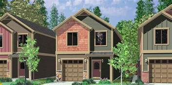 10105 narrow lot house plans small house plans with garage 3 bedroom