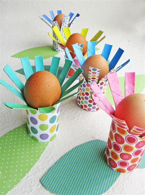 easter craft ideas with toilet paper rolls diy floral egg holders your can make yummymummyclub ca
