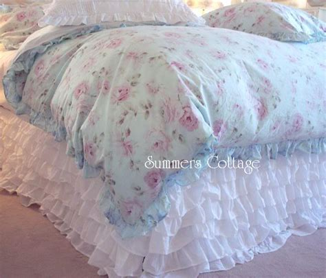 dreamy whites shabby cottage chic ruffles bed skirt king