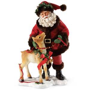 santa claus with reindeer possible dreams figurine