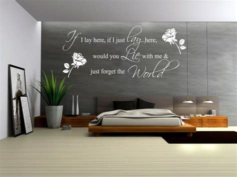 contemporary for bedroom grey accent wall color with decorative wall decals quotes