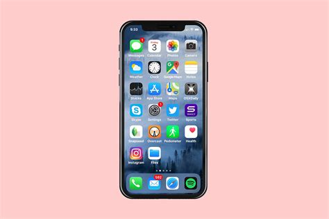 front portrait view of iphone xs mockup generator mediamodifier free mockup generator