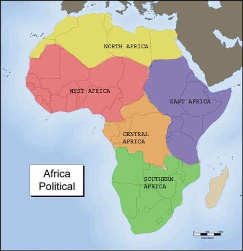 6 regions of africa map five region of africa map two five regions of africa