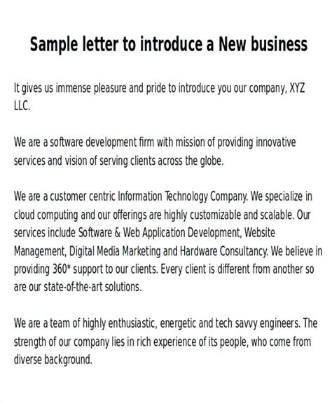 New Bookkeeping Business Introduction Letter business introduction letter citybirds club