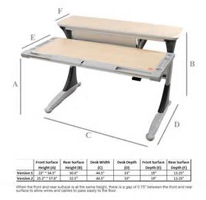 desk height posturedesks elite adjustable desk tilting desk height