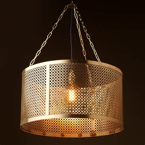 metal mesh l shade 560mm steel club and round mesh shade