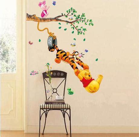 Wall Sticker Stiker Dinding Pooh Tiger aliexpress buy pooh tigger animal vinyl wall stickers rooms home decor diy