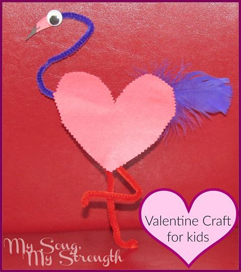 january arts and crafts for my song my strength flamingo s day craft for