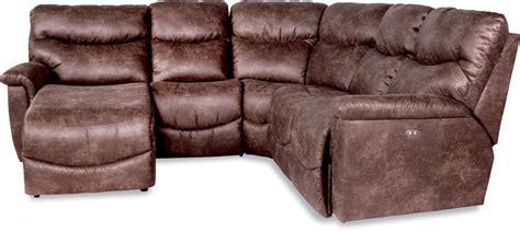 la z boy chaise sofa la z boy four power reclining sectional sofa with ras reclining chaise gill