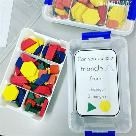 shape pattern activities early years 2d shape pattern block challenge cards challenge cards