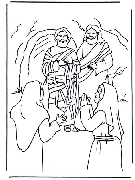 free bible coloring pages and martha lazarus new testament
