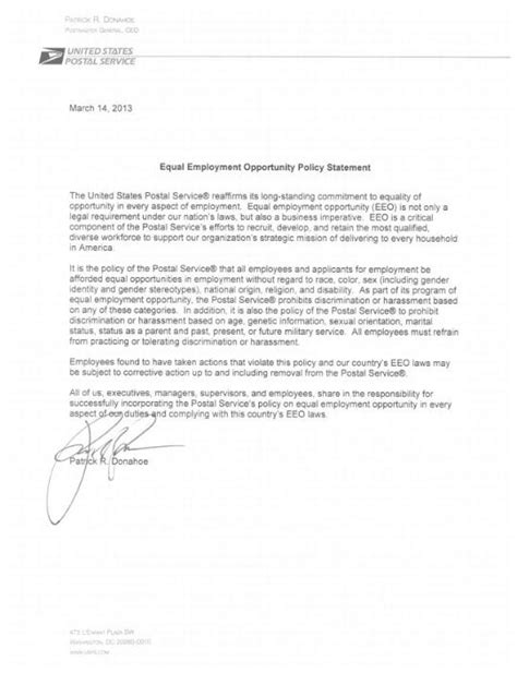 opportunity statement template equal employment opportunity statement
