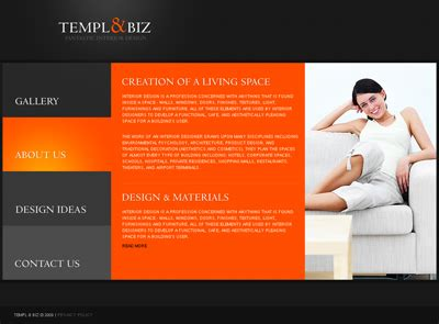 page design ideas how to make a website for an interior design company web