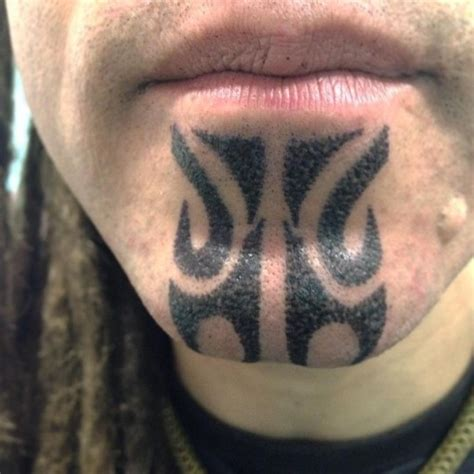 chin tattoo tribal chin best ideas gallery