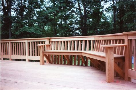deck with built in bench lawrence ave cedar deck with built in bench traditional deck new york by gem