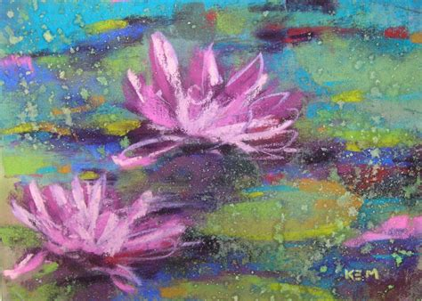 Painting With Pastels painting my world water 5x7 pastel painting