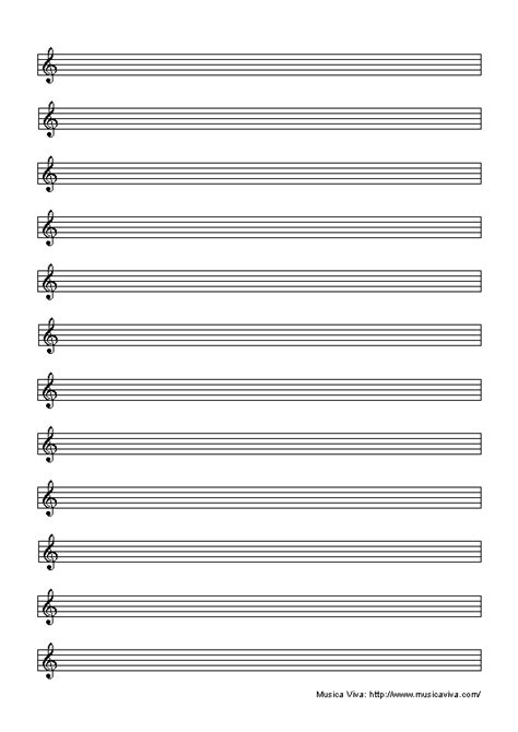 free blank sheet music paper printable staff paper blank music paper