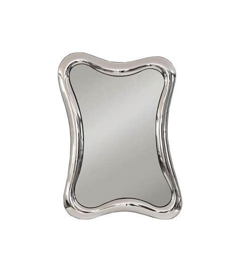 cornice con vetro specchio con cornice ondulata in vetro