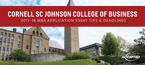 Cornell Tech Mba Gmat Club by Cornell Sc Johnson College Of Business Mba Essay Tips