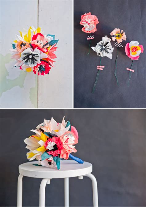 How To Make Bouquet Of Paper Flowers - paper flower bouquet diy