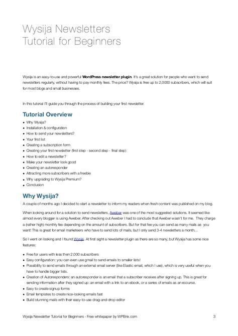 tutorial wordpress newsletter wysija newsletter plugin for wordpress tutorial for