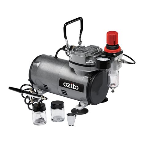 ozito 150w mini air compressor and airbrush kit bunnings warehouse
