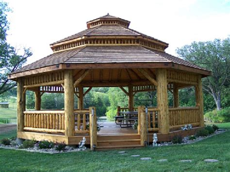 octagon home kits log octagon gazebo kit log gazebos gazebo depot