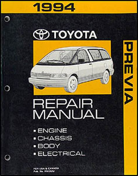 online car repair manuals free 1995 toyota previa auto manual 1994 1995 toyota previa automatic transmission repair shop manual original