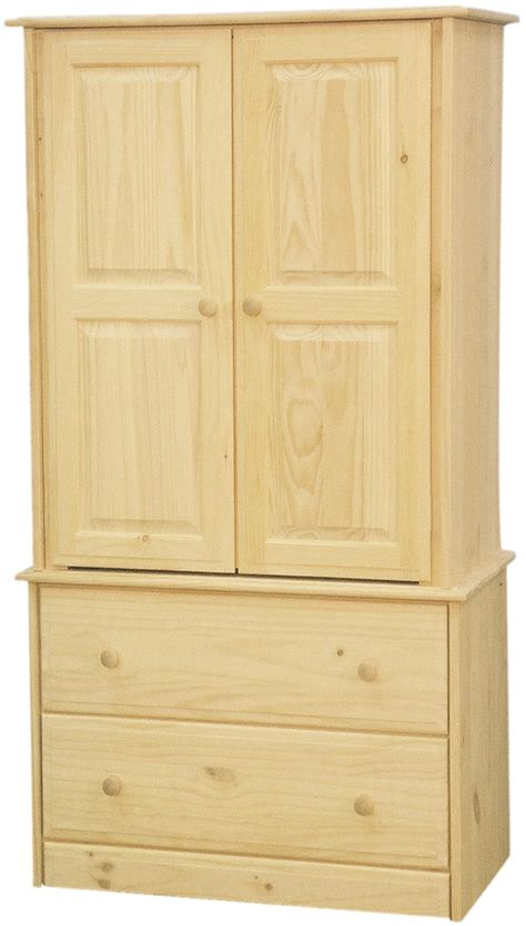armoires with shelves solid pine armoire with 2 drawers and 2 adjustable shelves