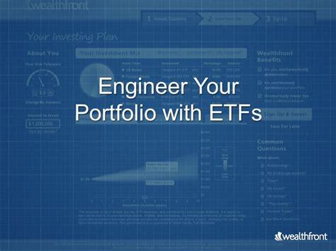 design engineer portfolio exles engineer your portfolio with etfs