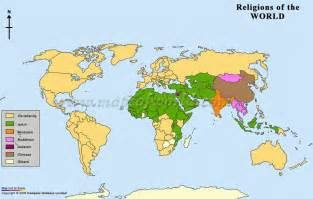 Religion Map Of The World by A Second Map Of World Relgions