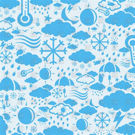 weather background images background with weather symbols vector image 80791