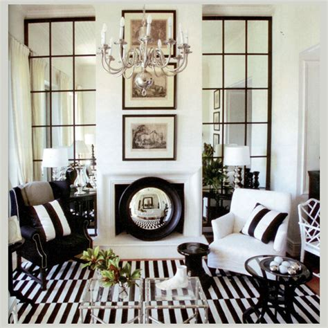 black and white home design inspiration inredning speglar inspiration inredning