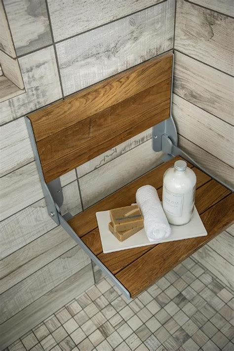 teak tiles bathroom teak folding shower bench ledge cottage bathroom