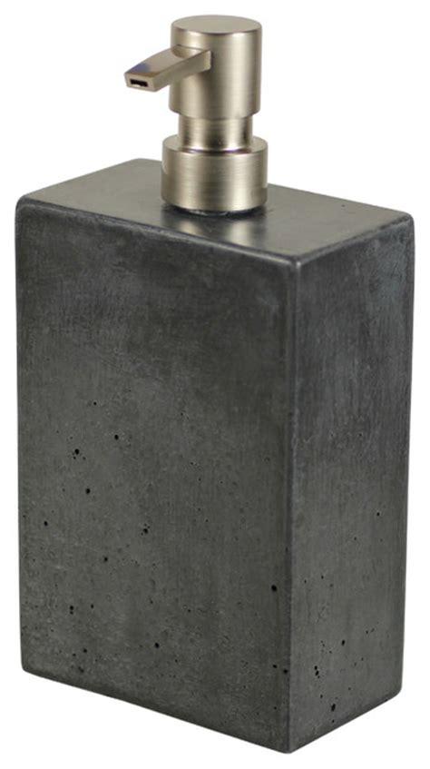 Modern Grey Bathroom Accessories Concrete Soap Dispenser Gray Modern Bathroom